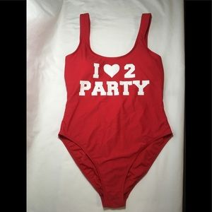 No Boundries Red Swimsuit S-L
